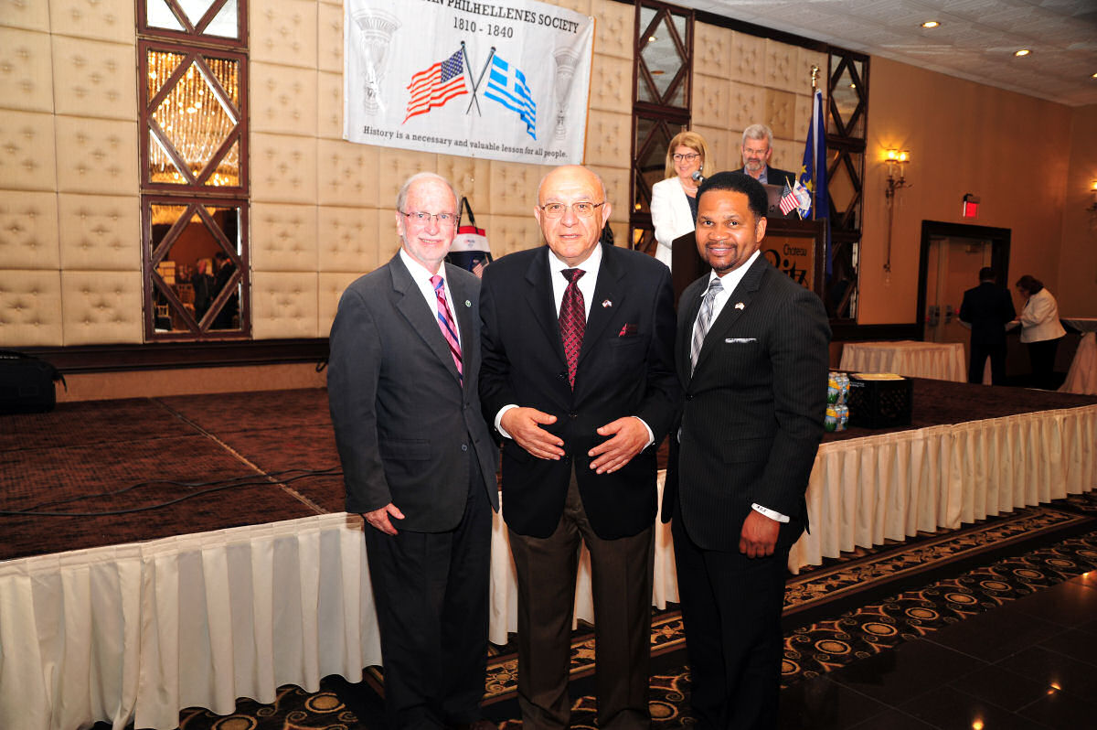 2019 Skokie Mayor Vandusen, Peter Nikolopoulos & Aurora Mayor Irvin