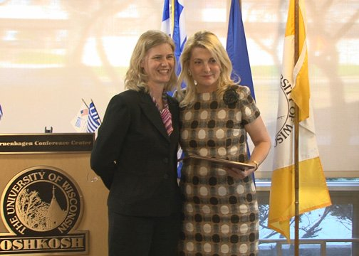 Jenna Graf, Director of International Studies, University of Wisconsin-Oshkosh and Photini Tomai-Constantopoulos