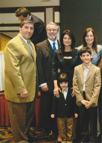 (L-R) Michael Bousis, Mayor Weisner, Verna Bousis, Mrs. Eleni Bousis, Michael and Dimitri Bousis. Three generations of the Bousis Family carrying on the tradition of community service and Philhellenism in the U.S.