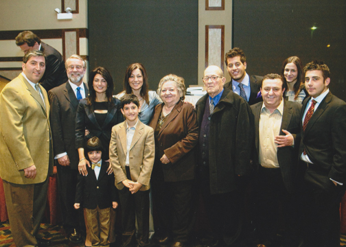 The Bousis Family and guests with Mayor Thomas Weisner